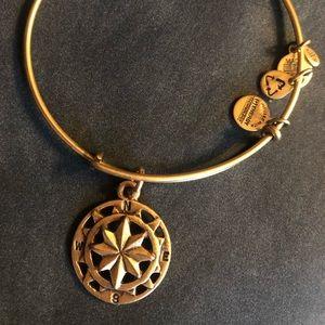 Alex and Ani Gold Compass Bracelet
